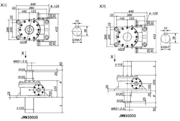 螺旋丝杠升降机 蜗轮丝杠升降机工作原理